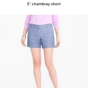 "J. Crew Factory 5"" chambray cotton short"